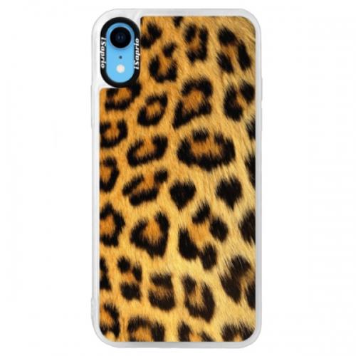 Neonové pouzdro Blue iSaprio - Jaguar Skin - iPhone XR