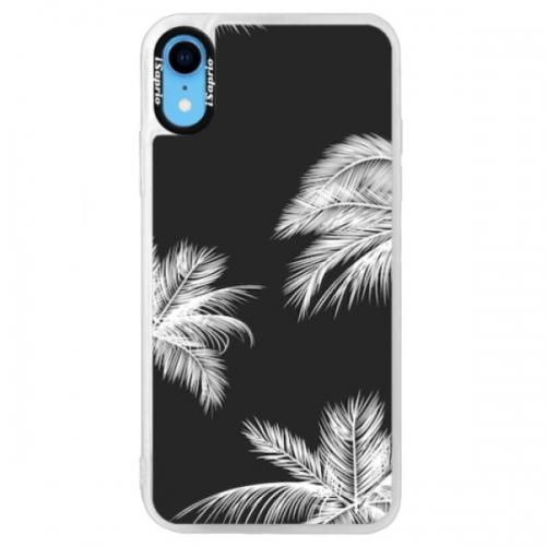 Neonové pouzdro Blue iSaprio - White Palm - iPhone XR