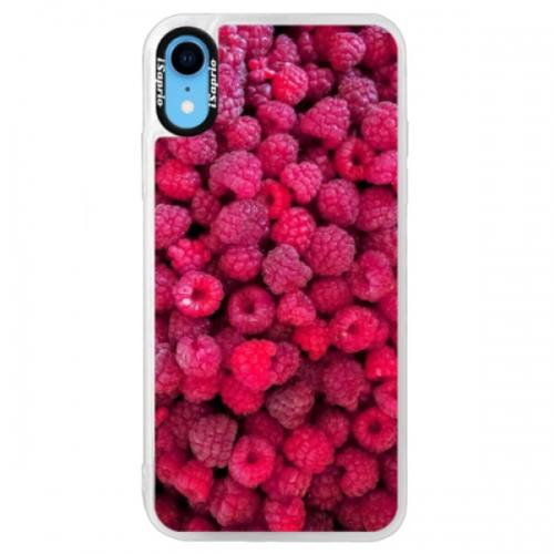 Neonové pouzdro Blue iSaprio - Raspberry - iPhone XR