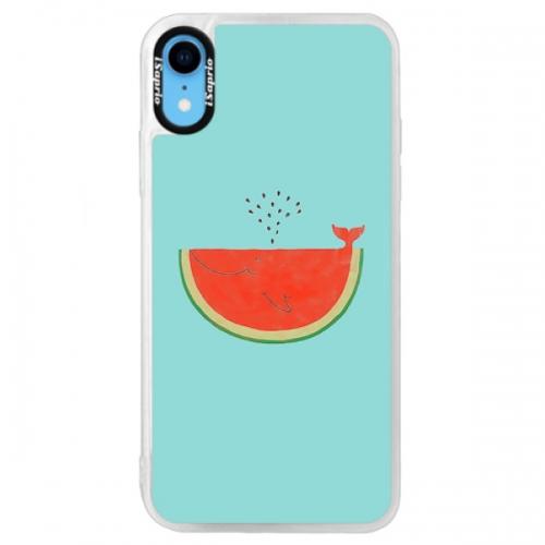 Neonové pouzdro Blue iSaprio - Melon - iPhone XR