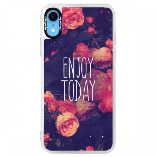 Neonové pouzdro Blue iSaprio - Enjoy Today - iPhone XR