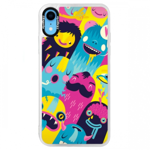 Neonové pouzdro Blue iSaprio - Monsters - iPhone XR