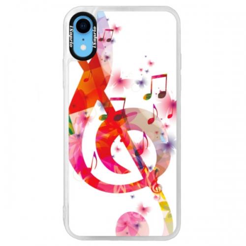 Neonové pouzdro Blue iSaprio - Love Music - iPhone XR
