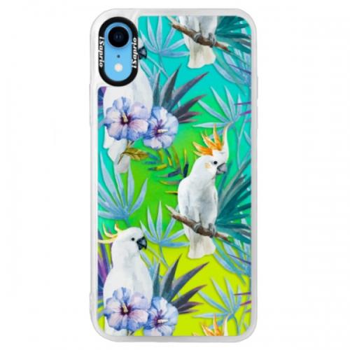 Neonové pouzdro Blue iSaprio - Parrot Pattern 01 - iPhone XR