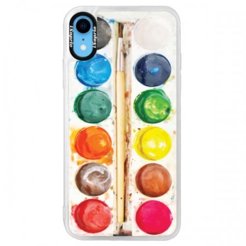 Neonové pouzdro Blue iSaprio - Watercolors - iPhone XR