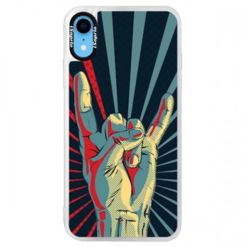 Neonové pouzdro Blue iSaprio - Rock - iPhone XR