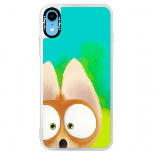 Neonové pouzdro Blue iSaprio - Fox 02 - iPhone XR
