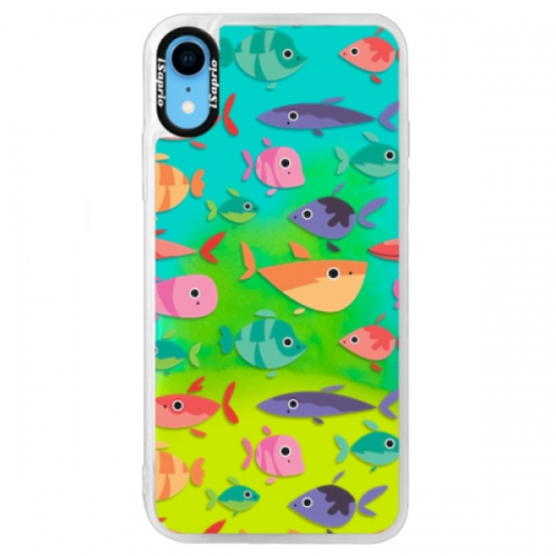 Neonové pouzdro Blue iSaprio - Fish pattern 01 - iPhone XR