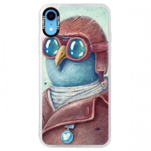 Neonové pouzdro Blue iSaprio - Pilot twitter - iPhone XR