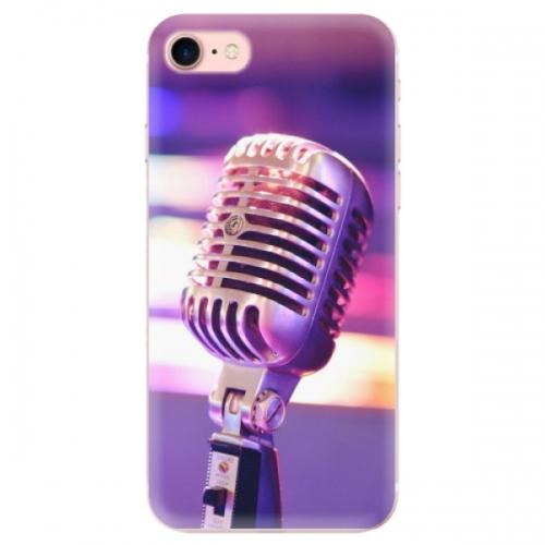 Odolné silikonové pouzdro iSaprio - Vintage Microphone - iPhone 7