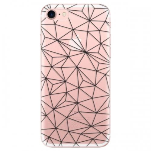Odolné silikonové pouzdro iSaprio - Abstract Triangles 03 - black - iPhone 7