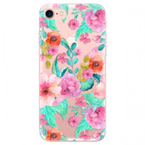 Odolné silikonové pouzdro iSaprio - Flower Pattern 01 - iPhone 7