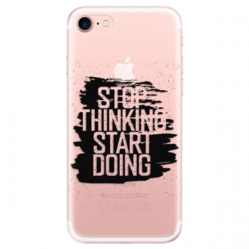 Odolné silikonové pouzdro iSaprio - Start Doing - black - iPhone 7