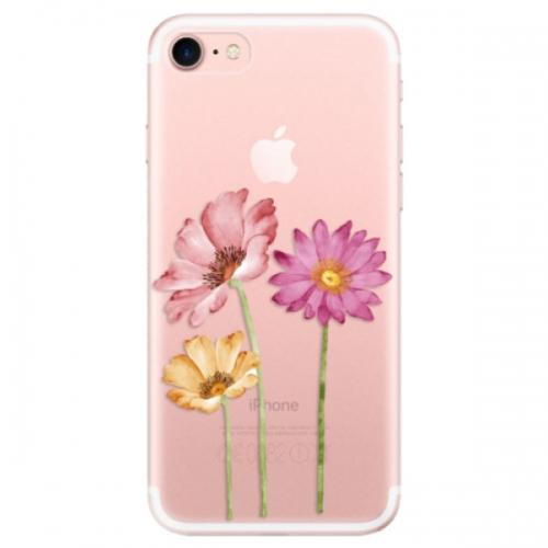 Odolné silikonové pouzdro iSaprio - Three Flowers - iPhone 7