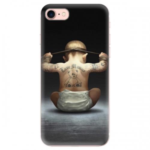 Odolné silikonové pouzdro iSaprio - Crazy Baby - iPhone 7