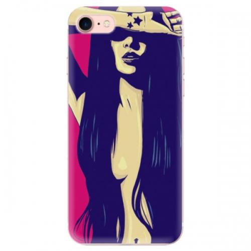 Odolné silikonové pouzdro iSaprio - Cartoon Girl - iPhone 7