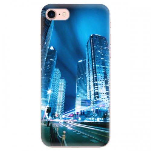 Odolné silikonové pouzdro iSaprio - Night City Blue - iPhone 7