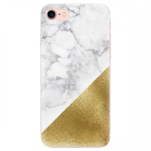 Odolné silikonové pouzdro iSaprio - Gold and WH Marble - iPhone 7