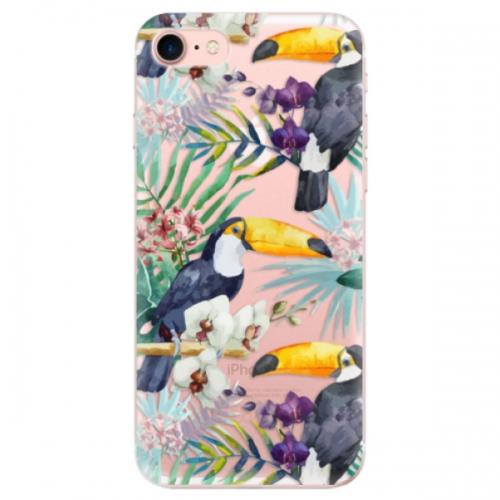 Odolné silikonové pouzdro iSaprio - Tucan Pattern 01 - iPhone 7