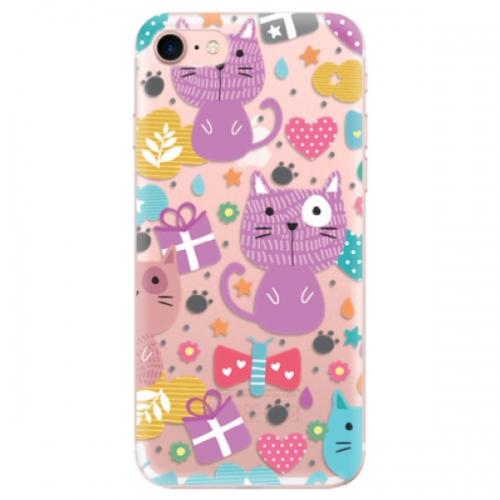 Odolné silikonové pouzdro iSaprio - Cat pattern 01 - iPhone 7