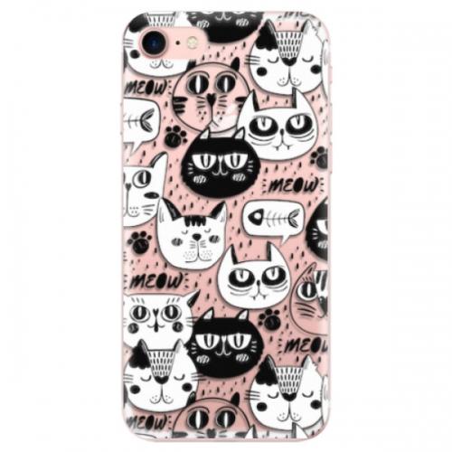 Odolné silikonové pouzdro iSaprio - Cat pattern 03 - iPhone 7