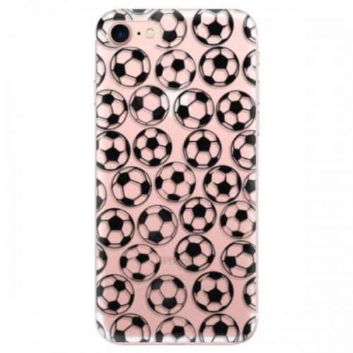 Odolné silikonové pouzdro iSaprio - Football pattern - black - iPhone 7