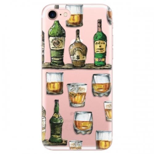 Odolné silikonové pouzdro iSaprio - Whisky pattern - iPhone 7