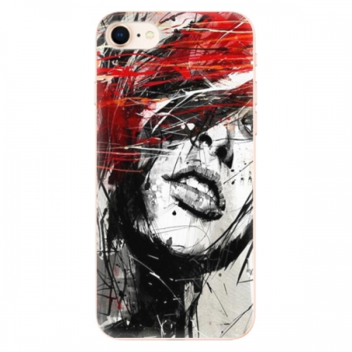 Odolné silikonové pouzdro iSaprio - Sketch Face - iPhone 8