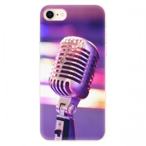 Odolné silikonové pouzdro iSaprio - Vintage Microphone - iPhone 8