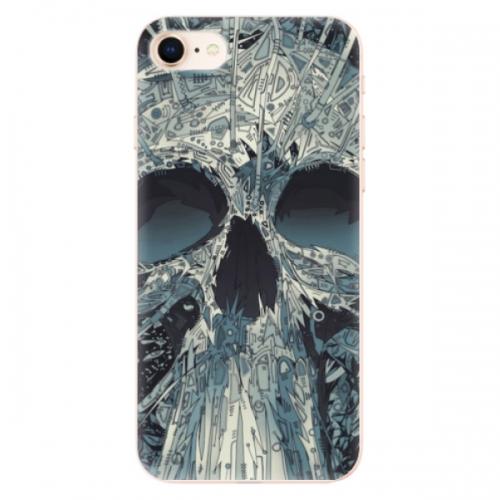 Odolné silikonové pouzdro iSaprio - Abstract Skull - iPhone 8