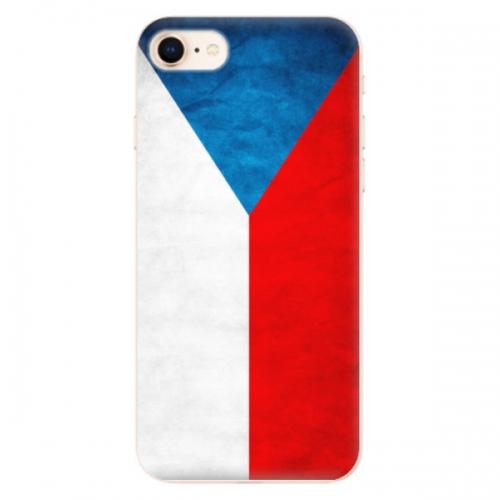 Odolné silikonové pouzdro iSaprio - Czech Flag - iPhone 8