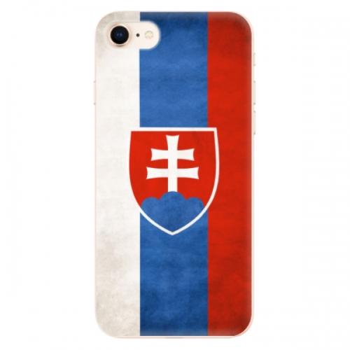 Odolné silikonové pouzdro iSaprio - Slovakia Flag - iPhone 8