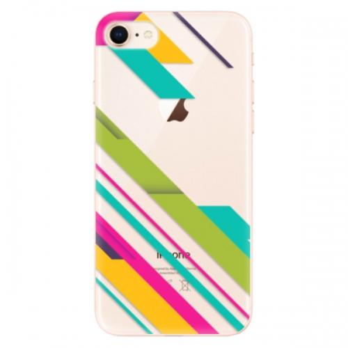 Odolné silikonové pouzdro iSaprio - Color Stripes 03 - iPhone 8
