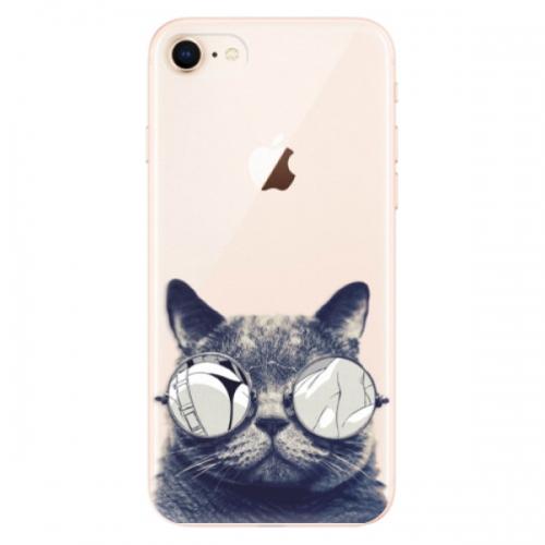 Odolné silikonové pouzdro iSaprio - Crazy Cat 01 - iPhone 8