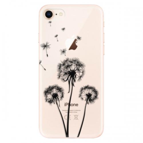 Odolné silikonové pouzdro iSaprio - Three Dandelions - black - iPhone 8