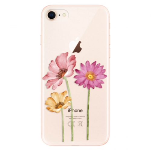 Odolné silikonové pouzdro iSaprio - Three Flowers - iPhone 8