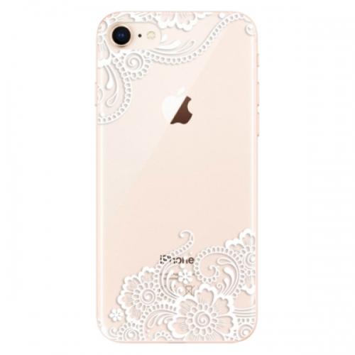 Odolné silikonové pouzdro iSaprio - White Lace 02 - iPhone 8