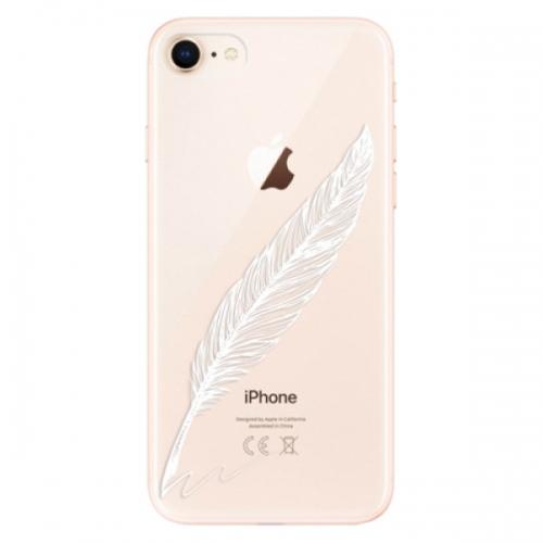 Odolné silikonové pouzdro iSaprio - Writing By Feather - white - iPhone 8