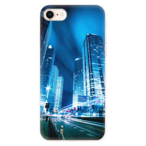 Odolné silikonové pouzdro iSaprio - Night City Blue - iPhone 8