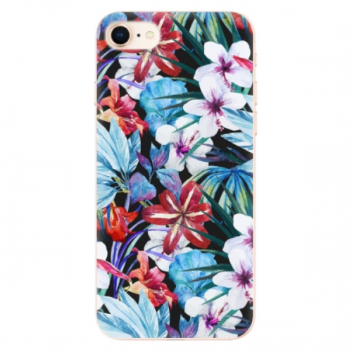 Odolné silikonové pouzdro iSaprio - Tropical Flowers 05 - iPhone 8