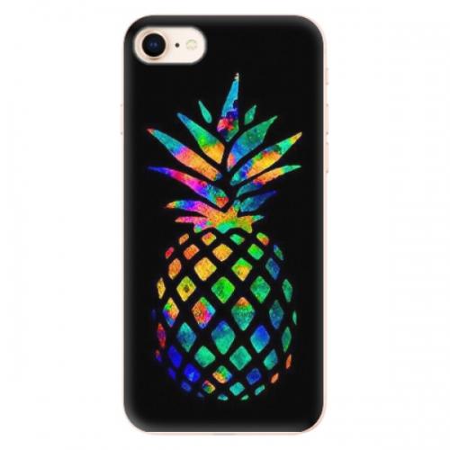 Odolné silikonové pouzdro iSaprio - Rainbow Pineapple - iPhone 8