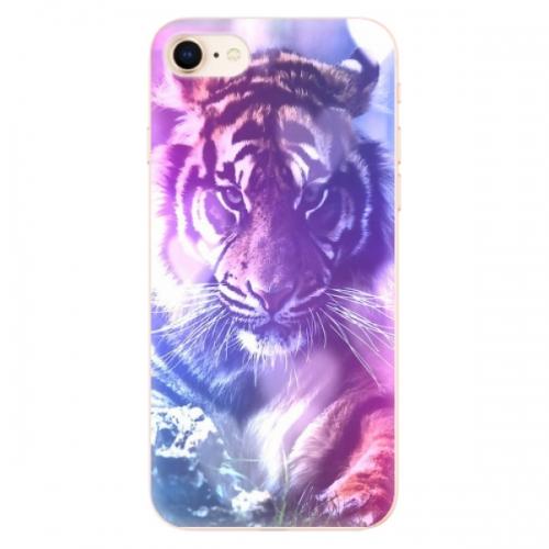 Odolné silikonové pouzdro iSaprio - Purple Tiger - iPhone 8