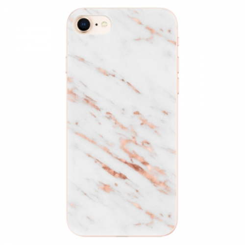 Odolné silikonové pouzdro iSaprio - Rose Gold Marble - iPhone 8