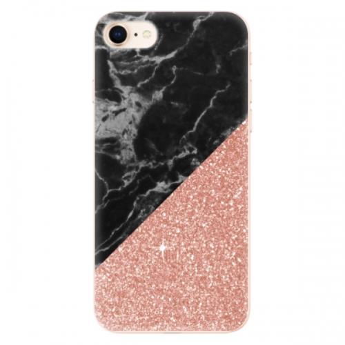 Odolné silikonové pouzdro iSaprio - Rose and Black Marble - iPhone 8