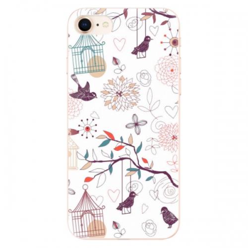 Odolné silikonové pouzdro iSaprio - Birds - iPhone 8