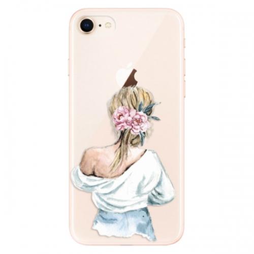 Odolné silikonové pouzdro iSaprio - Girl with flowers - iPhone 8