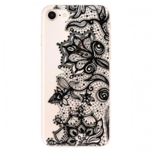 Odolné silikonové pouzdro iSaprio - Black Lace - iPhone 8