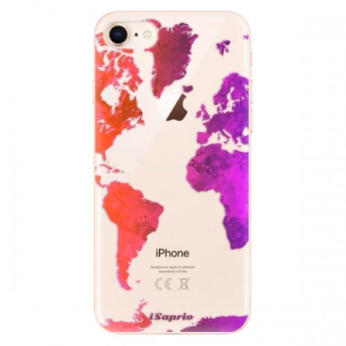 Odolné silikonové pouzdro iSaprio - Warm Map - iPhone 8