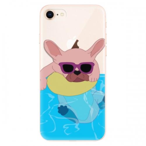 Odolné silikonové pouzdro iSaprio - Swimming Dog - iPhone 8