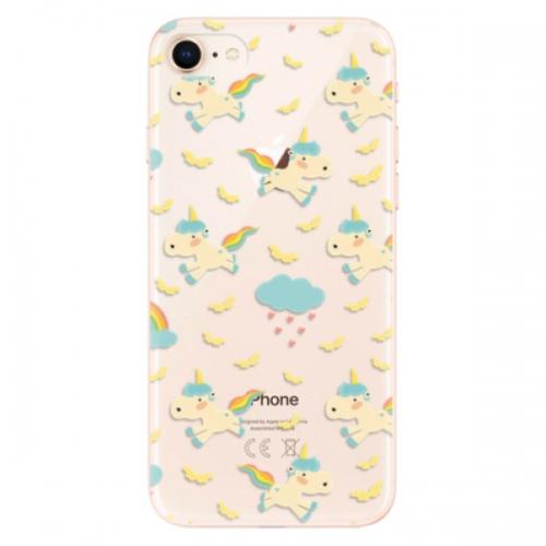 Odolné silikonové pouzdro iSaprio - Unicorn pattern 01 - iPhone 8